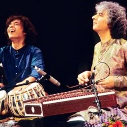 Ustad Zakir Hussain (tabla) and Pandit Shivkumar Sharma (santoor)