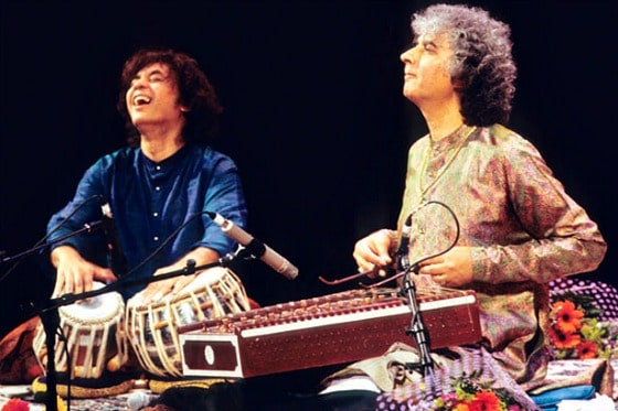 Ustad Zakir Hussain (tabla) and Pandit Shivkumar Sharma (santoor)