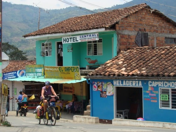 The Family on Bikes in Colombia.