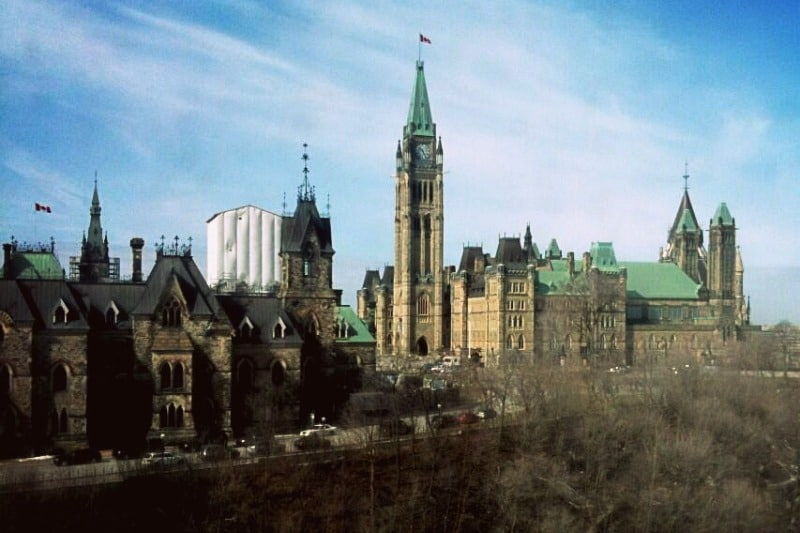 Canada's majestic Parliament buildings. Ottawa