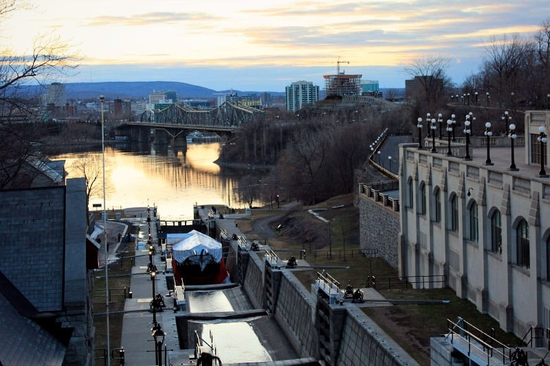 Where the Rideau Canal meets the Ottawa River