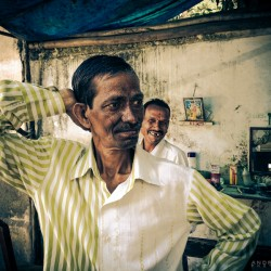 Barbers, Mumbai, India, local tour, photography Andrew Adams.