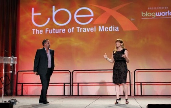 Canada's own Dave and Deb of ThePlanetD give the keynote at TBEX Toronto