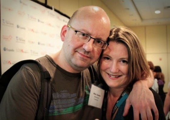 "Mike Snowden and me ""nestling"" at TBEX Toronto"