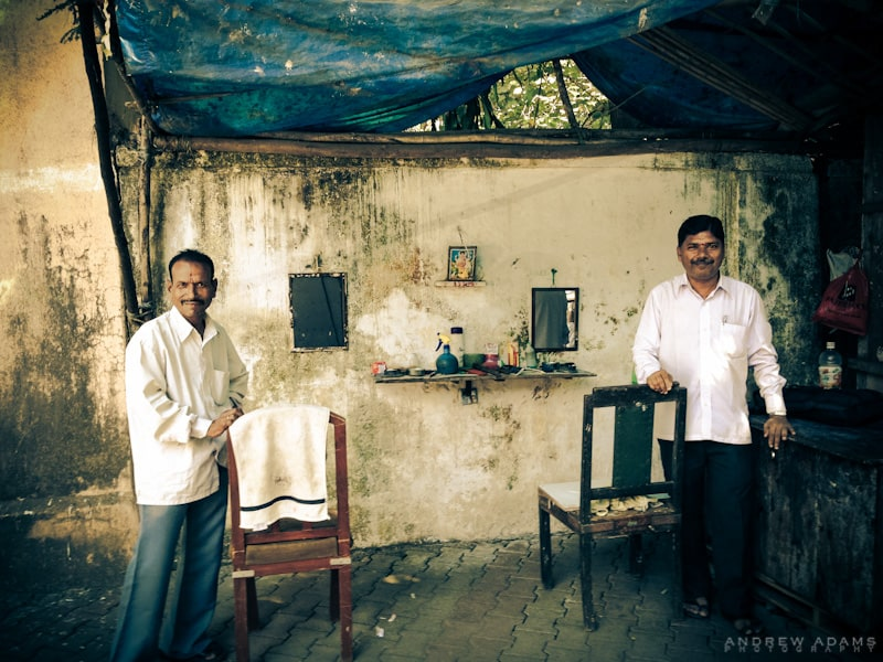 Barbers, Mumbai. Photo courtesy Andrew Adams.
