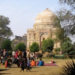 Lodhi tomb, garden, Delhi, India