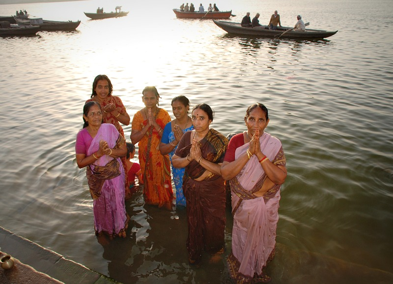 Puja in Varanasi for Ganga, the mother river of India.