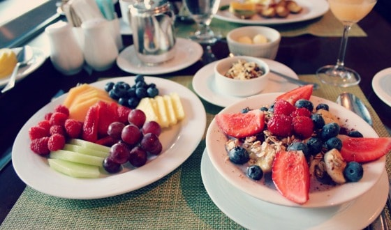 Vegan breakfast at the Fairmont Queen Elizabeth Hotel, Montreal