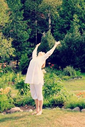 Mariellen Ward at Sivananda Yoga Camp, Quebec, Canada