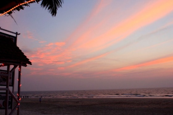On the beach in Goa, India