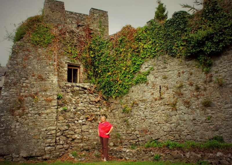 Me at Blackwater Castle in my ancestral village, Cork, Ireland for The Gathering