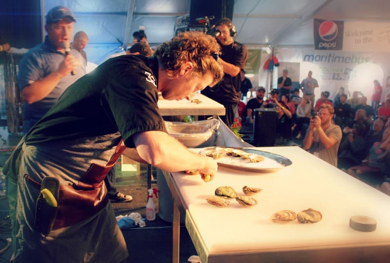 Patrick McMurray oyster shucker