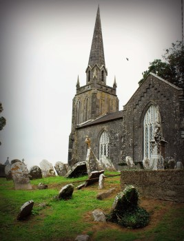 Church cemetery graveyard at Castletownroche Cork Ireland