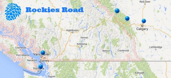 First Time Visitor To Canada Eh Two Helpful Itineraries - Mountains in canada map