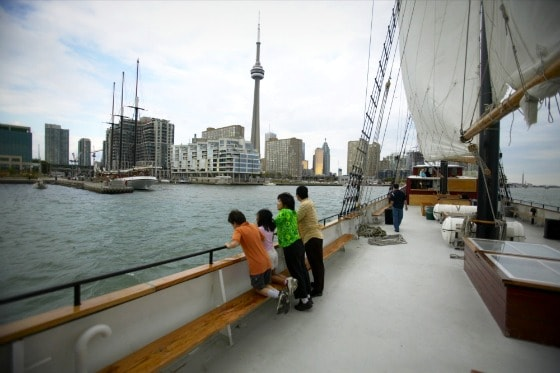The Toronto skyline as seen from a harbour cruise. Photo courtesy Canada Keep Exploring.