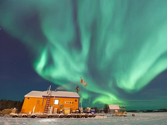 The aurora borealis, or northern lights,  Canada's 50 Places of a Lifetime