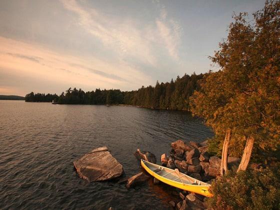 Algonquin Provincial Park's Canoe Lake is a paddler's paradise.