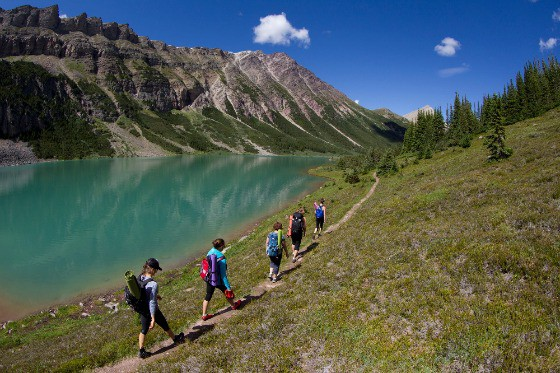 Hiking a mountain trail in western Canada. Photo courtesy Canada Keep Exploring.