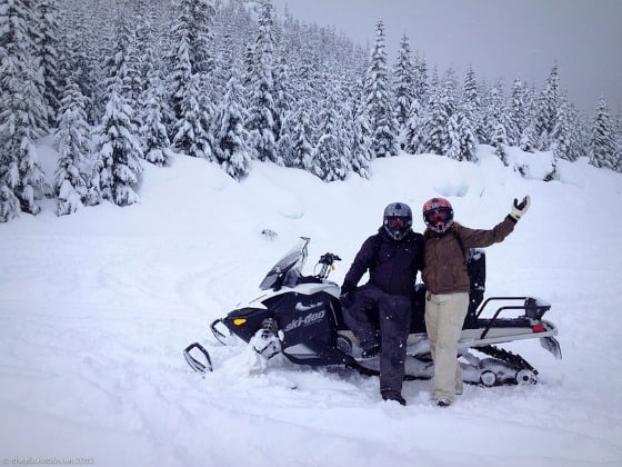 Winter snowmobile Dave and Deb ThePlanetD