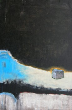 Victoria Ward HotspurStudio winter painting rural Ontario