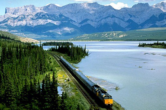 Via Rail train rockies Canada snow