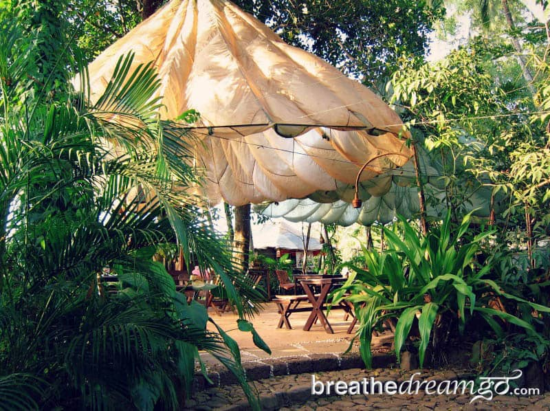 Dining tent and greenery at Bhakti Kutir Eco-Resort, Goa