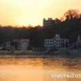 Sunset on the Ganga in Rishikesh India