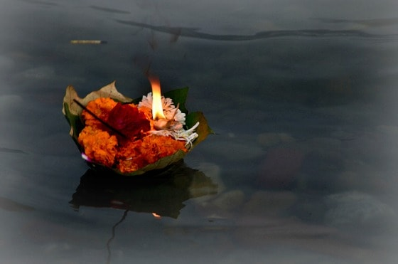 Diya aarti Rishikesh India Ganga Ganges