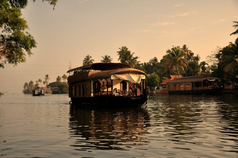 Kerala Backwaters houseboat India romantic