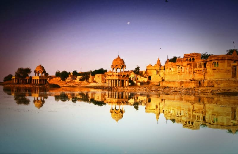 Jaisalmer India desert lake romantic city