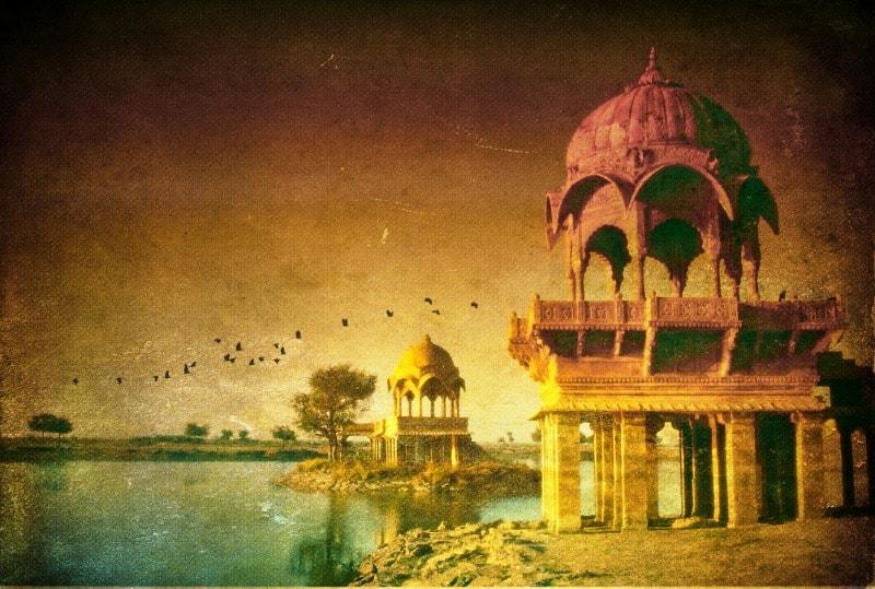 Jaisalmer India desert lake romantic city