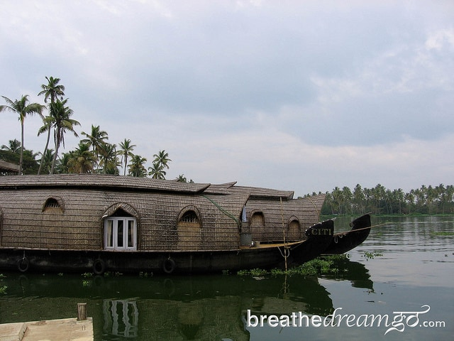 boats, Kerala backwaters, India