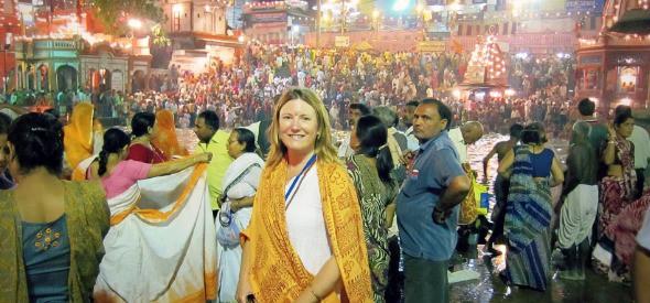 At the Kumbh Mela in Haridwar