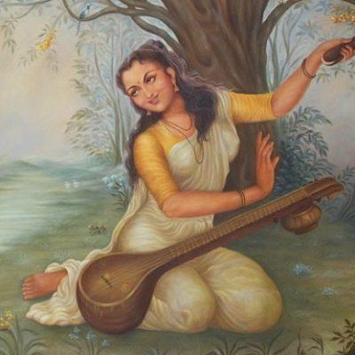 painting of Mirabai Indian woman poet singer mystic Rajashtan