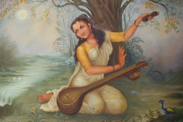 painting of Mirabai Indian woman poet singer mystic Rajashtan