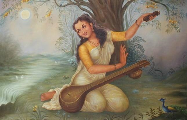 Painting of Mirabai Meerbai