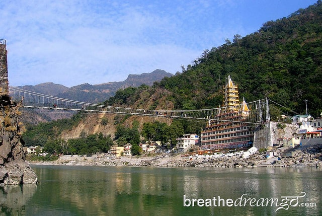 Lakshman Jhula in Rishikesh, India, yoga, spirituality