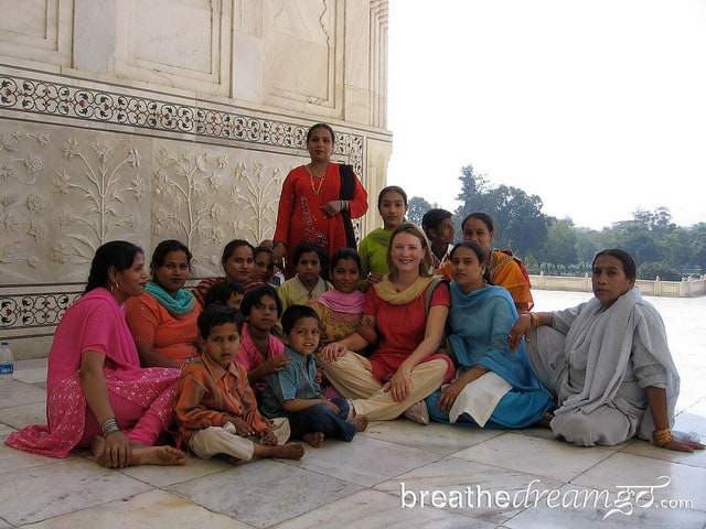 Taj Mahal, India, women