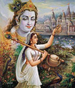 Mirabai and Krishna, India