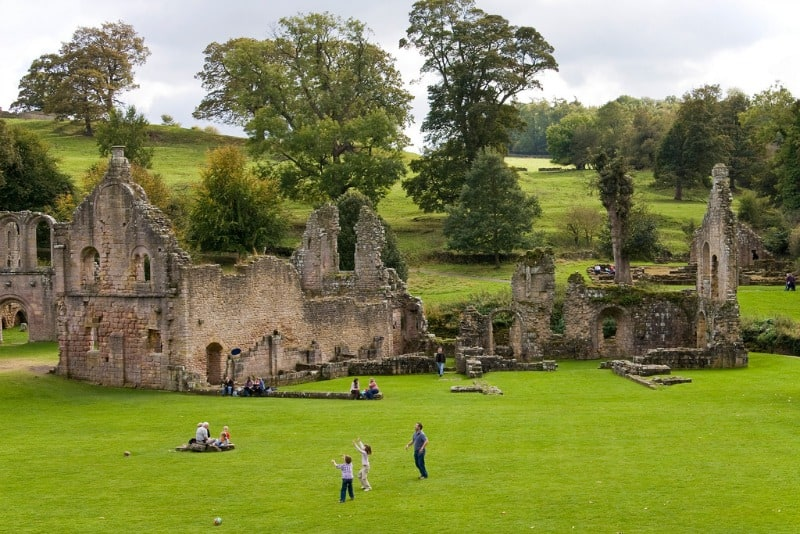 Fountains Abbey and Studley Royal Water Garden, England, United Kingdom