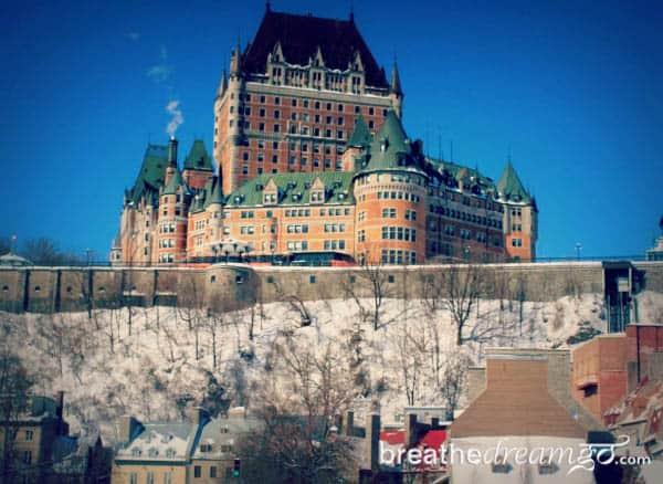 Fairmont Cau Frontenac Quebec City Canada