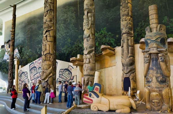 Totem poles, Canadian Museum of History, Ottawa, Quebec, Canada