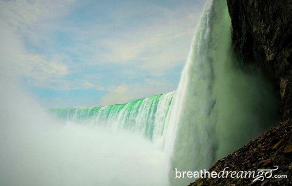 On the edge at Niagara Falls