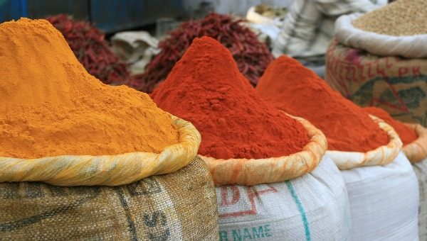 spices, market, Delhi, India
