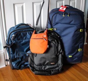 long term travel, packing, getting ready, luggage, Pacsafe, travel tips