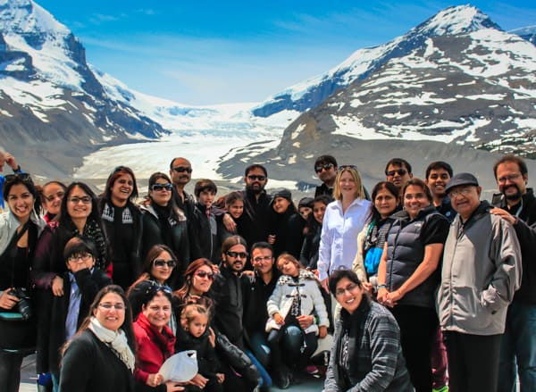 Lunch with travellers from India at the Glacier Adventure Centre