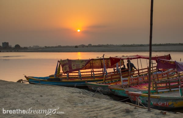 Mirabai, expedition, Kensington Tours, India, Krishna, temple, Vrindavan, poet, female, woman, sunset, river, Yamuna