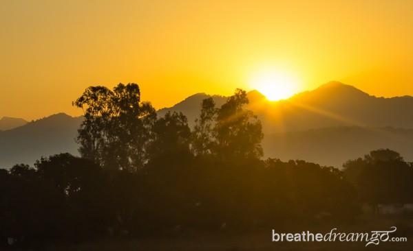 Aurovalley Asham, yoga, ashram, India, travel, sunrise, spirituality, peace, quiet