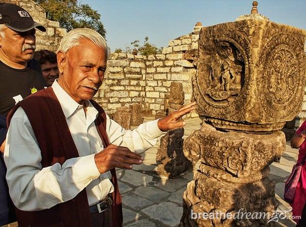 Archaeologist Dr. AK Sharma, Sirpur, Chhattisgarh, India