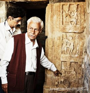 Archaeologist Dr. AK Sharma at Sirpur, Chhattisgarh, India